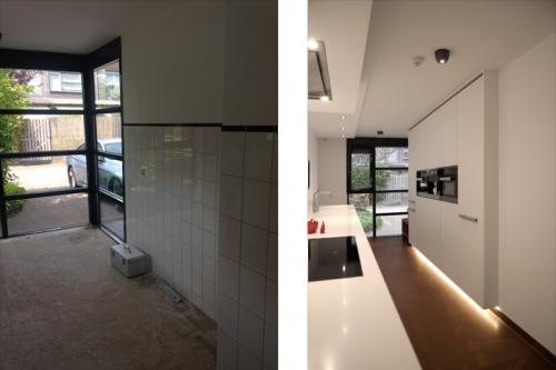verbouwing keuken hoge kasten